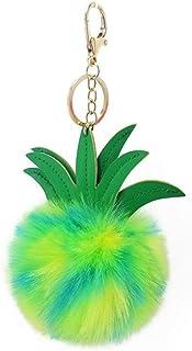 WopenJucy Creative Crystal Rhinestone Bee Honey Keychains Keyring Women Car Bag Charms Trinket Key Ring Holder Pendant Christmas Jewellery size 11.5 Silver 6CM