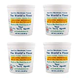 Dead Sea Warehouse - Amazing Minerals Dead Sea Bath Salts, 100% Dead Sea Bath Salts, Moisturizes & May Temporarily Relieve Aches & Pains, for All Skin Types + Dry Skin, Unscented (2 lbs, 4-Pack)