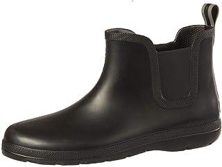 totes Men's Cirrus Ankle Rubber Rain Boot, Black, 11