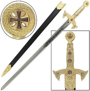 Knights Templar Medieval Replica Longsword Gold