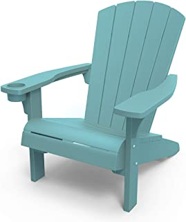 Sponsored Ad - Keter Furniture Patio Chairs with Cup Holder - Perfect for Beach, Pool, and Fire Pit Seating, Teal