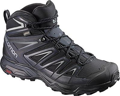 Salomon Men's X Ultra 3 Mid GTX Hiking Boots, Black/India Ink/Monument, 7