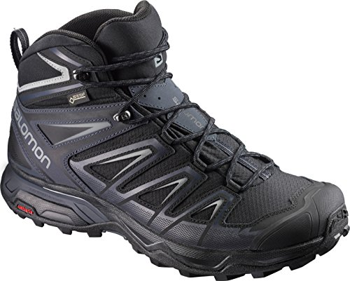 SALOMON X Ultra 3 Mid GTX BK Monument, Scarpe da Arrampicata Alta Uomo, Nero (Black/India Ink/Monu 000), 42 EU