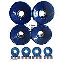Turbo 76mm Wheels w Bearings (Blue)