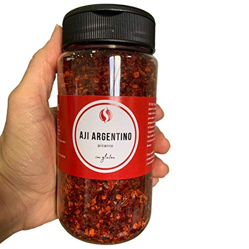 Ají Argentino Picante TodoEspecias 120g - Sin Gluten - 100% Natural - Bote Especiero con 2 dosificadores