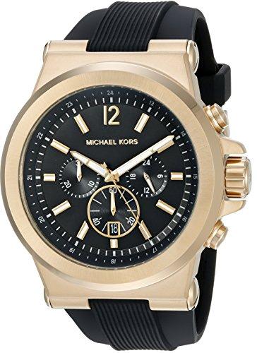 Michael Kors Men's MK8445 Black Rubber Quartz Dress Watch
