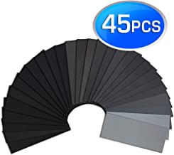 Sandpaper, Premium Wet Dry Waterproof Sand Paper, 45PCS 120 to 5000 Assorted Grit Sanding Paper for Wood Furniture Finishing, Metal Sanding and Automotive Polishing, 9 x 3.6 Inches.