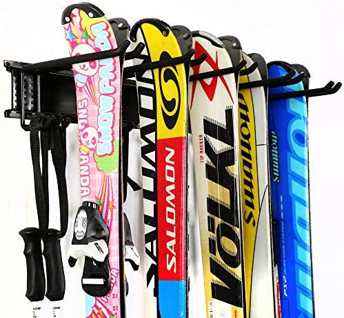 Ultrawall Ski Wall Rack 5 Pairs of Snowboard Rack Wall Mount Home and Garage Skiing Storage product image