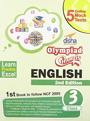 Olympiad Champs English Class 3 with 5 Online Mock Tests
