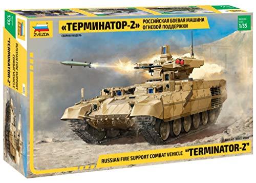 "ZVEZDA 500783695 - 1:35 BMPT-72 \""Terminator 2\"" Russian fire, Modellbau, Bausatz, Standmodellbau, Hobby, Basteln, Plastikbausatz"