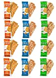 Just the Cheese Bars 12-pack, Crunchy Baked Low Carb Snack Bars. 100% Natural Cheese. High Protein and Gluten Free (Variety Pack, 12-Pack)