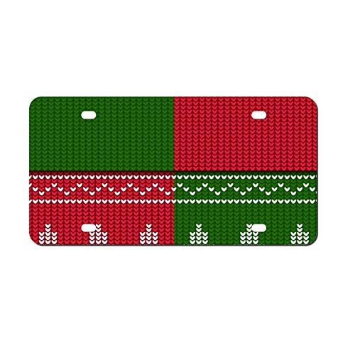 'N/A' License Plate Aluminum Winter Christmas Seamless Metal Car Tag Cover Decorative License Plates for Front of Car for Women Men, 6 x 12 in