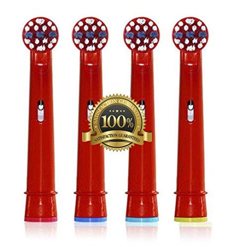 Drkao Clean Aufsteckbürsten für Oral B Kinder Elektrische Zahnbürstenköpfe für Braun Oral B Elektrische Zahnbürste Kinder Aufsteckbürsten Köpfe für Oral-B kids Aus Hochwertigem Dupont-Nylon, 12 Stück