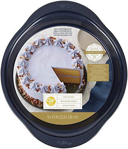 Wilton Non-Stick Diamond-Infused Navy Blue Round Baking Pan, 9-inch