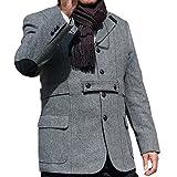 (オックスフォード クラシック) OXFORD CLASSIC秋冬ツイードジャケット ノーフォーク エルボーパッチ9218 グレー系 A6