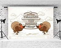 HD感謝祭の背景漫画の背景トルコの写真の背景パーティーポートレート写真スタジオ小道具7x5ftFSLX109