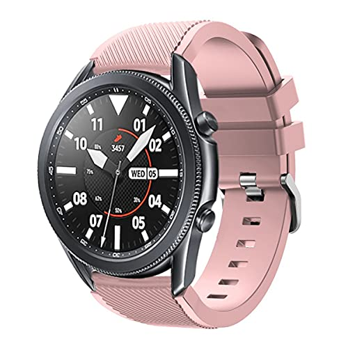 Minggo Bands for Samsung Gear S3 Frontier/Classic Watch Silicone Bracelet, Sports Silicone Band Strap Replacement Wristband for Samsung Gear S3 Frontier/S3 Classic/Galaxy Watch 46mm(Baby Pink)