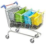 Trolley Original Pastel - Set de 4 Bolsas de la Compra Reutilizables para Carrito