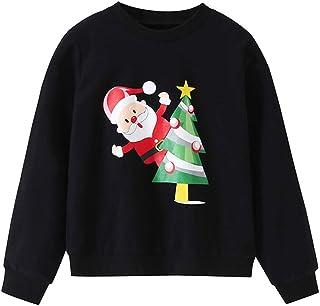 Gaga city Unisex Maglione Natalizio Bambino Felpa con Maniche Lunghe Ragazzo Ragazza Pullover Caldo Abbigliamento Natale 80-130CM