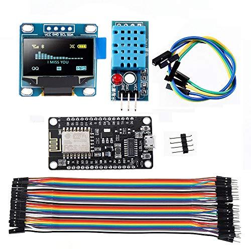 Rljjcs1163 5 stücke WIFI ESP8266 Starter Kit IOT NODEMCU Radio I2C OLED Display DHT11 Temperaturfeuchtigkeitssensormodul for Arduino - Produkte, die mit verschriebenen Arduino-Boards arbeiten Rljjcs11