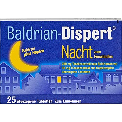 Baldrian-Dispert Nacht Ÿberzogene Tabletten, 25 St. Tabletten