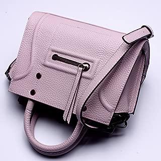 Leather 2018 New Ladies Handbag Leather Handbag Smiley Wallet Shoulder Wallet Luggage Waterproof (Color : Pink, Size : M)