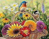 QMGLBG 1000ピースの木製パズル 花かご鳥パズル木製パズル大人の若い家族の楽しみDIYおもちゃ創造的な休日完璧な贈り物