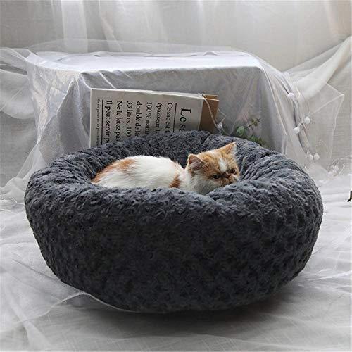 NANANANA Cama redonda para gatos y perros pequeños para mascotas, suave y cálido, de felpa, para perros, gatos, sofá, felpa, cachorro, perrera, productos para mascotas