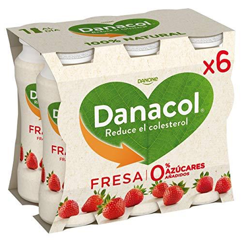Danone Danacol Fresa - Paquete de 6 x 16.67 ml - Total: 100 ml