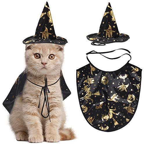 Legendog Costume d'halloween pour Chat, Manteau de Magicien avec Chapeau Costume pour Animal de...