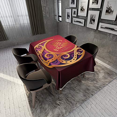 ZENING - Tovaglia per feste Ramadan Eid Al-Fitr alla moda rettangolare da tavola da pranzo per hotel e feste, ristorante in 4 misure, in poliestere colorato