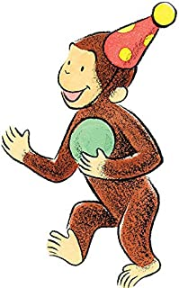 11 Inch Curious George Hat Decal Classic Storybook Monkey Removable Peel Self Stick Wall Sticker Art (Decoration for Walls Laptop Yeti Tumbler) Nursery Bedroom Home Decor 6 x 10 1/2 inch