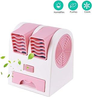 ZXYY Refrigerador de Aire Acondicionado Portátil Mini Ventilador USB Puerto Dual Refrigeración sin Hojas Silencioso Fragancia Escritorio Ventiladores eléctricos de Escritorio para el hogar Office
