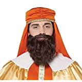 California Costumes Wise Man Beard & Moustache - Adult, Brown, One Size