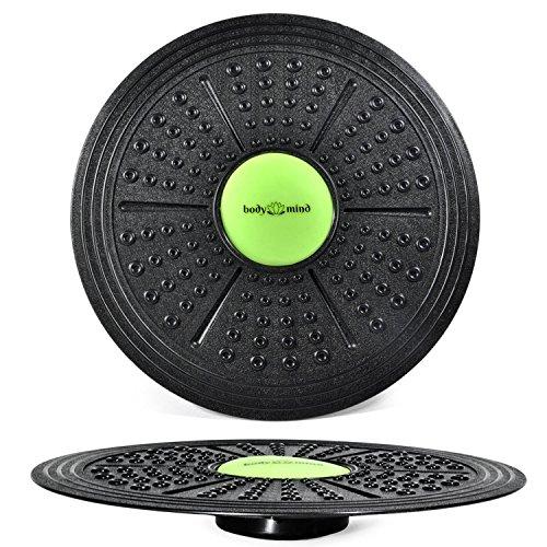 Body & Mind Balance-Board Deluxe Wackelbrett für Physio-Therapie-Kreisel-Training; Trainiert Gleichgewicht & Koordination