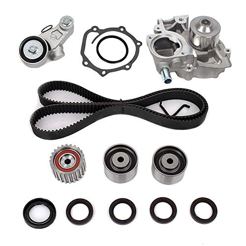 Engine Timing Belt Kit with Water Pump - Compatible with 2.5L 2006-2012 Subaru Forester, Impreza, Legacy, Outback with EJ253 Engine - Replace # TKF-006 TCK304 TCKWP304A