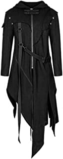 Retro Punk Style Fashion Tops Men's Zipper Asymmetrical Hoodie Jacket Coat Daily Party Outwear