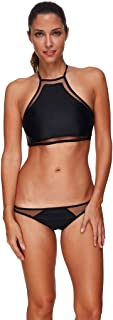 Botrong Bikini Swimsuit for Women, Botrong Women's 2PCS Bikini Set Swimwear XX-Large Black