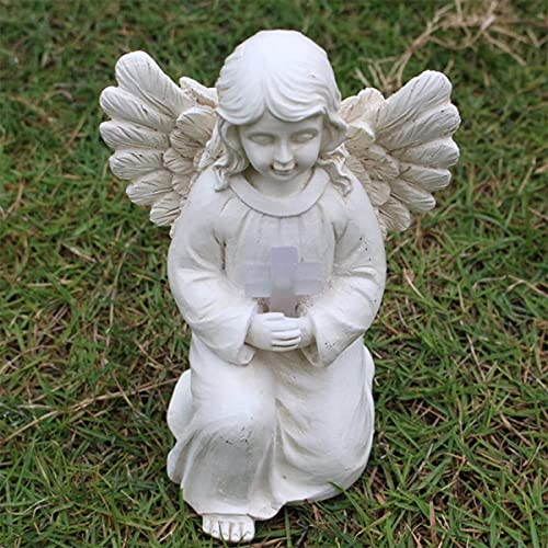Yongqin Garden Gnome Statue Resin Angel Figurine, Adorable Flower Girl Decorative Ornaments, Home Decor Fairy Prayer, Pray For Your Family, Christmas Thanksgiving Day Decoration