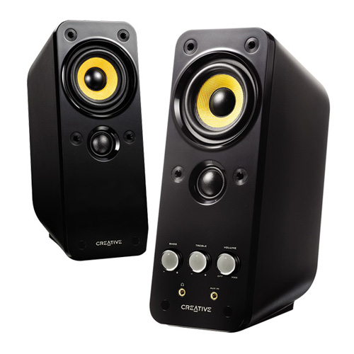 Creative Labs 51MF1610AA002 GigaWorks T20 Series II 2.0 Multimedia Speaker System with BasXPort...