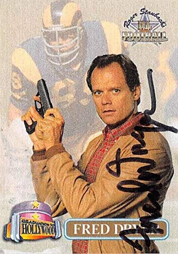 Fred Dryer autographed football card (Los Angeles Rams, Hunter) 1994 Ted Williams Graduation to Hollywood #HM1 - Baseball Slabbed Autographed Cards