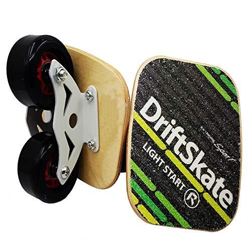 EASY BIG Outdoor Freeline Rollschuhe Road Drift Skates Platte mit PU-Rollen und ABEC-9 608 Kugellager, Black with Maple Wooden Plates