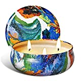 AOM Citronella Candles Outdoor and Indoor Pure Soy Wax 3-Wick Scent...