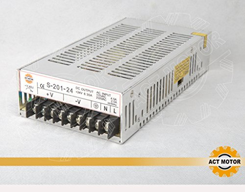 ACT Motor GmbH - Alimentatore di rete 24 V, 8,3 A, 201 W, motore passo-passo Nema17 CNC