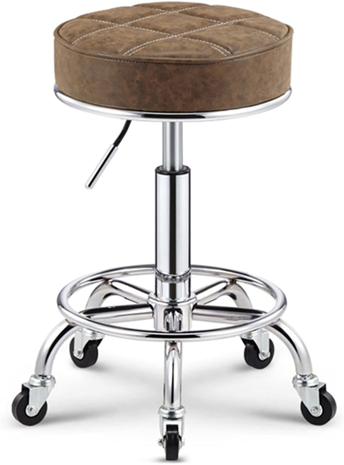 Cowhide redary Anti-Explosion Chair Cash Register Lift Bar Stool high Stools Stool sit 50-64.5cm -by TIANTA