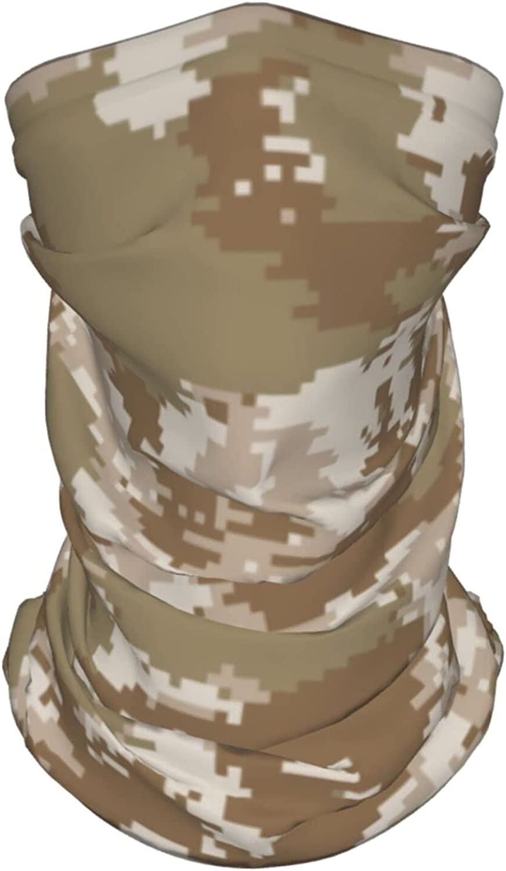 Marine Corps Camo Neck Gaiter Multipurpose Headwear Ice Silk Mask Scarf Summer Cool Breathable Outdoor Sport 4 Pcs