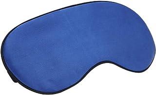Lurrose 3D Máscara para dormir de seda para olhos ventilada com tira ajustável para homens e mulheres (safira)