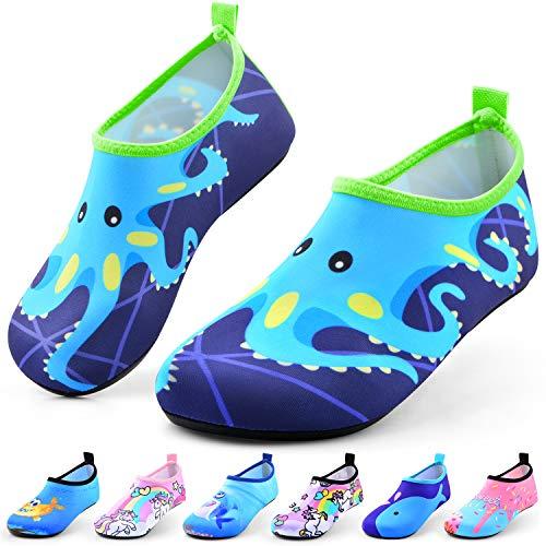 Jiamus Kinder Badeschuhe Wasserschuhe Schwimmschuhe Strandschuhe Aquaschuhe Schnell Trocknend Barfuss Schuhe für Jungen Mädchen Kleinkind Säugling Yoga Unisex Beach Pool