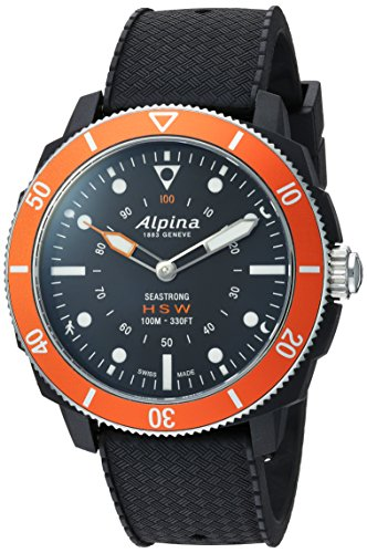 Alpina Horological Smart- Reloj deportivo de cuarzo, acero inoxidable y goma, color negro (modelo: AL-282LBO4V6)