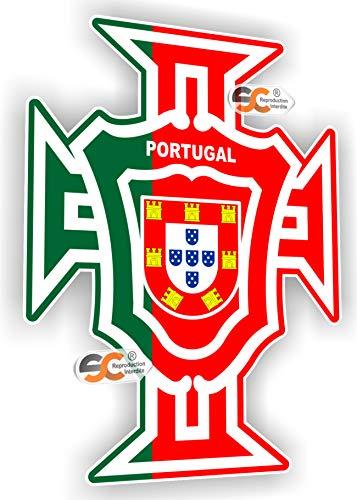 SC ® - Sticker/Autocollant Carte Portugal Croix FPF - Fabrication Française (Hauteur 15 cm/Largeur 10 cm)